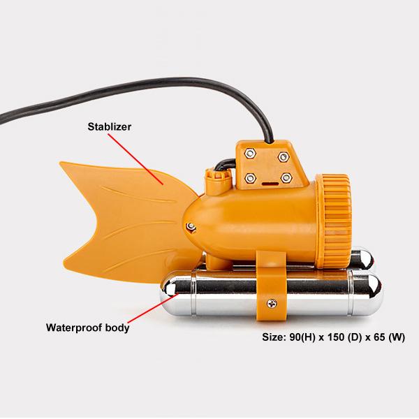 underwater camera 50m yellow